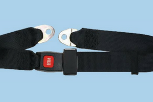 2 Point Non Retractable Lap Seatbelt