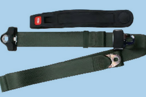 3 Point Non Retractable Bucket SeatBelt