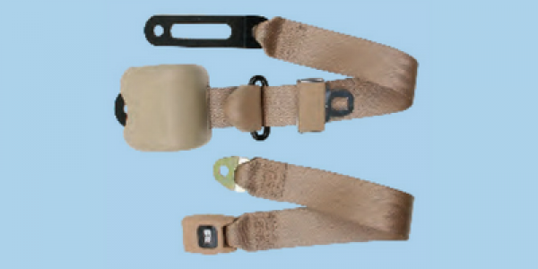 """3 Point Retractable 5"""" Mounting Anchor Bench Seat Belt"""