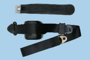 3 Point Retractable Bucket SeatBelt - Black