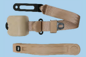 3 Point Retractable Bucket SeatBelt - Brown