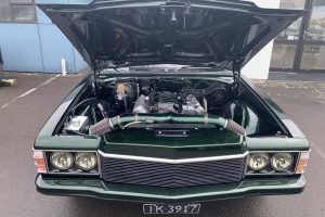 '77 Holden HZ Premier Wagon under hood